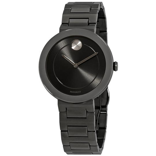 Movado Bold Grey Dial Gunmetal Ion-plated Ladies Watch Image 0