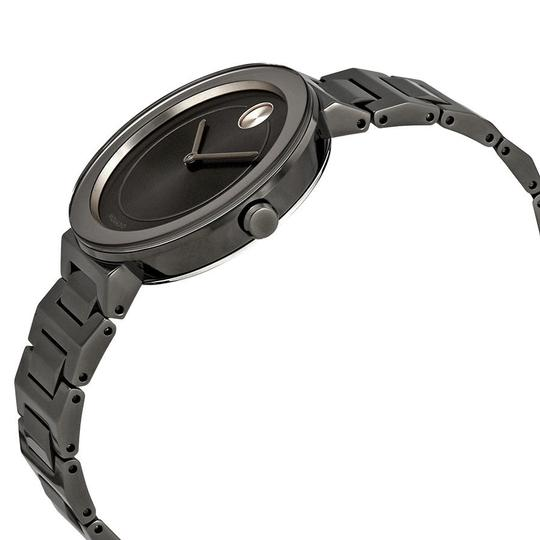 Movado Bold Grey Dial Gunmetal Ion-plated Ladies Watch Image 1