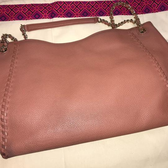 Tory Burch Britten Leather Tote in Maple Sugar Pink/Dusty Rose Image 4