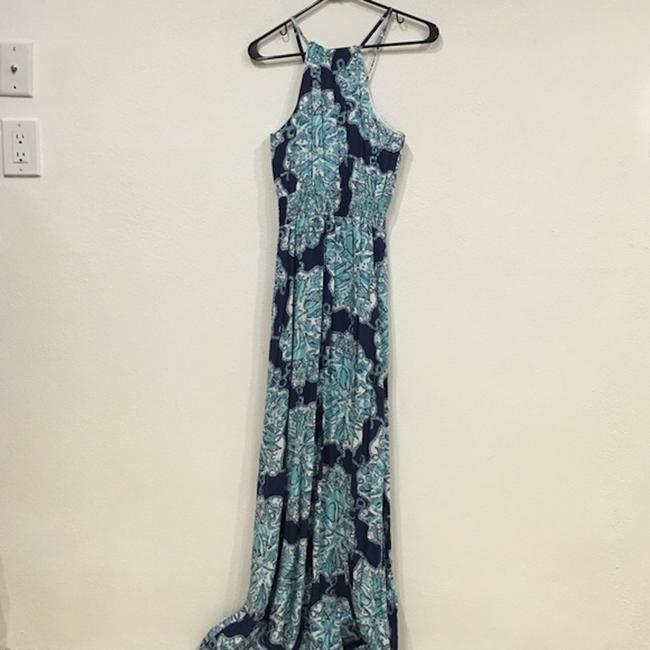 Blue, White Maxi Dress by Lilly Pulitzer Image 3