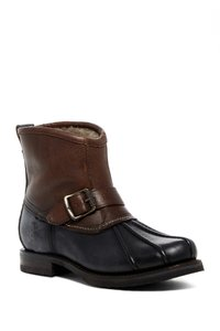 Frye Features Buckles Shearling Duck Made In Mexico Brown/Black Boots