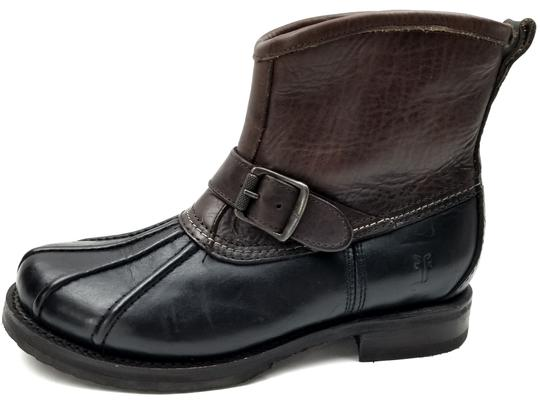 Frye Features Buckles Shearling Duck Made In Mexico Brown/Black Boots Image 1