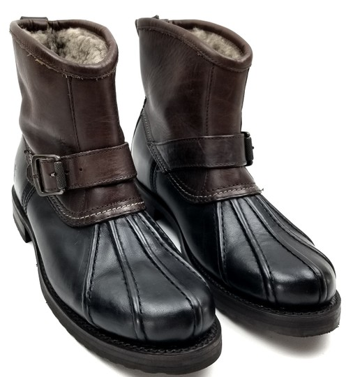 Frye Features Buckles Shearling Duck Made In Mexico Brown/Black Boots Image 2