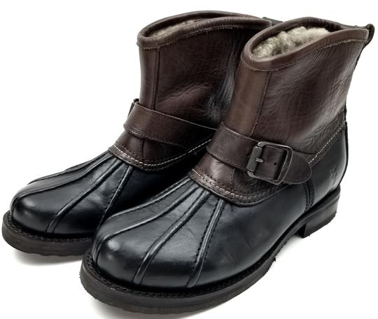 Frye Features Buckles Shearling Duck Made In Mexico Brown/Black Boots Image 3