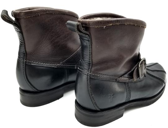 Frye Features Buckles Shearling Duck Made In Mexico Brown/Black Boots Image 4