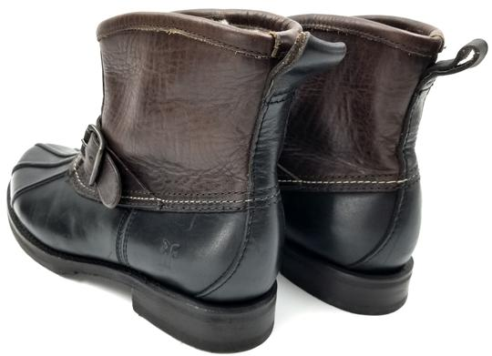 Frye Features Buckles Shearling Duck Made In Mexico Brown/Black Boots Image 5