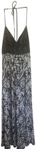 black, white Maxi Dress by Intrigue Maxi Floral And Lace