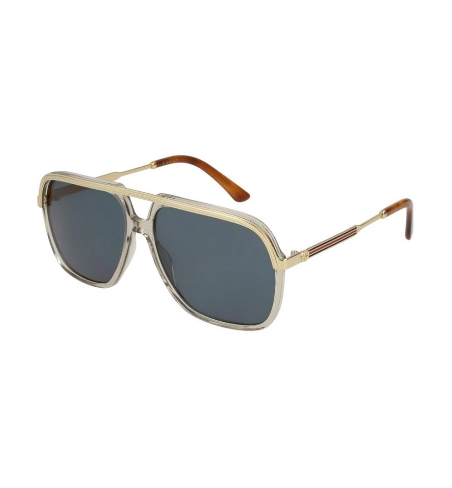 40217ee2aa1 Gucci 004 Gold Unisex Gg0200s 57mm Sunglasses - Tradesy