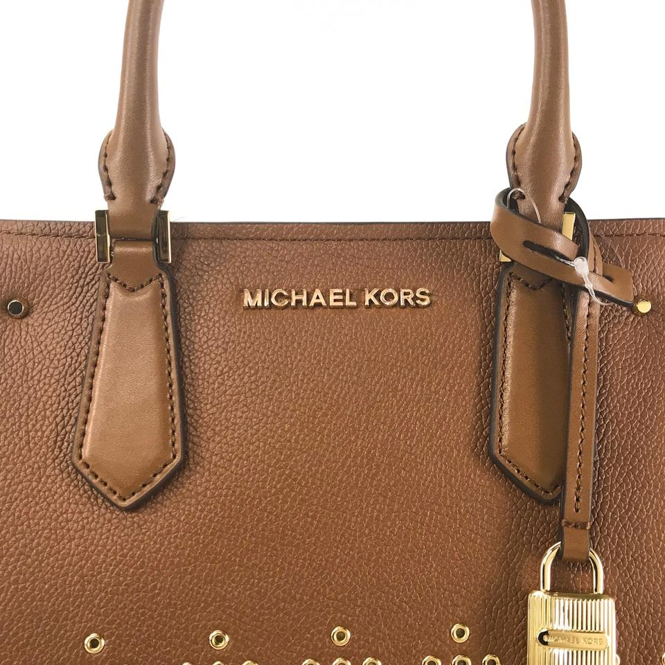 04f4fe7bd659 Michael Kors Bags Mk Crossbody Bags Hayes Brown Messenger Bag Image 11.  123456789101112