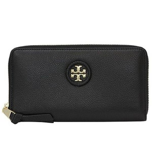 Tory Burch Tory Burch Wallet Zip Around Wallet Whipstitch TB Logo Leather