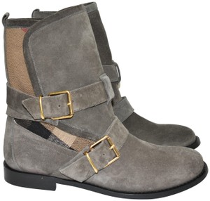 Burberry Heel Wedge GREY Boots