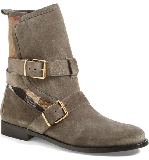 Burberry Heel Wedge GREY Boots Image 1
