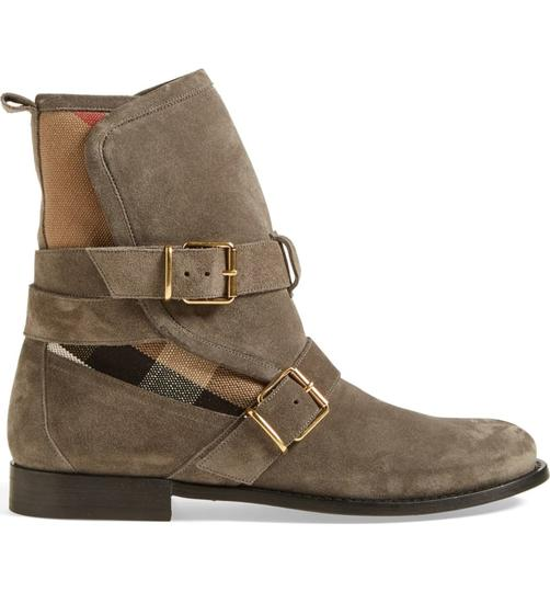 Burberry Heel Wedge GREY Boots Image 2