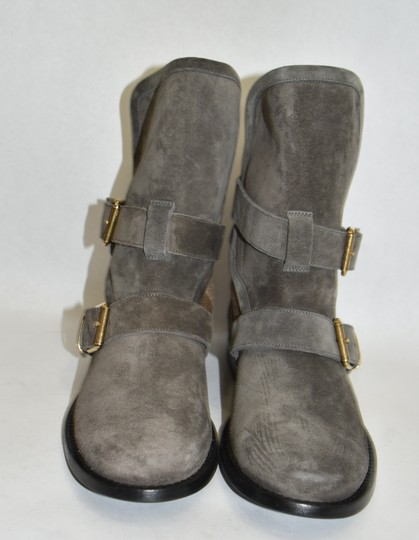 Burberry Heel Wedge GREY Boots Image 3
