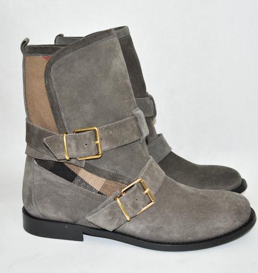 Burberry Heel Wedge GREY Boots Image 6