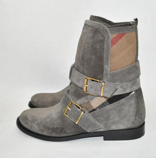 Burberry Heel Wedge GREY Boots Image 7