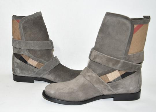 Burberry Heel Wedge GREY Boots Image 8