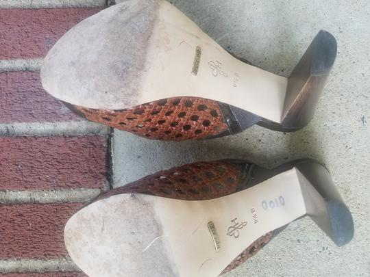 Cole Haan Brown trimmed in patent Leather Mules Image 5