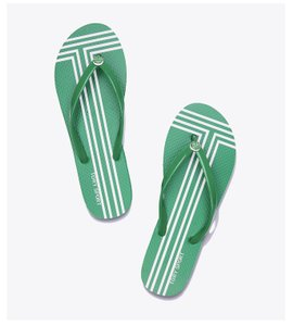 Tory Sport by Tory Burch Vineyard Green & White Sandals