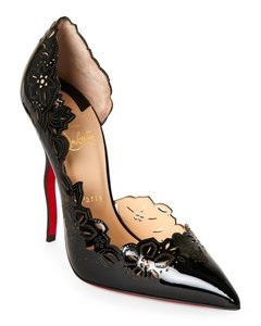 Christian Louboutin High Suede Pigalle Black Pumps