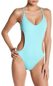 ale by alessandra ale by ALESSANDRA Shell Yea One Piece Aquamarine Swimsuit