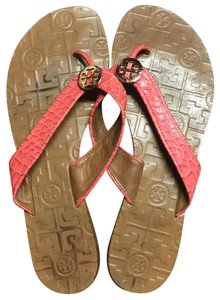 Tory Burch red coral Sandals