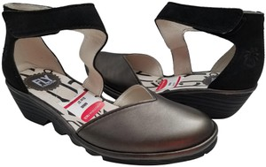FLY London black / pewter Sandals