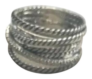 David Yurman GORGEOUS! David Yurman Crossover Wide Cable Pave Diamond Ring Sterling Silver 0.18 carat Total Weight Pave Diamonds 11mm Wide Size 7 100% Authentic Guaranteed!! Comes with Original David Yurman Pouch!!
