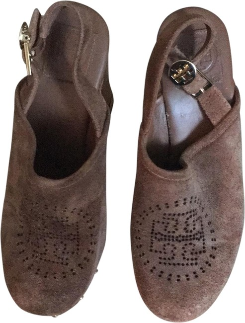 Item - Brown Mules/Slides Size US 8.5 Regular (M, B)