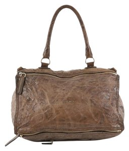 Givenchy Pandora Leather Satchel in brown