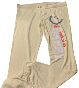 Peace Love World Size Large Sweat I Am Collection Athletic Pants Yellow