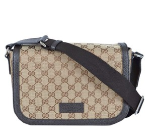 Gucci Gg Canvas Medium Brown Messenger Bag