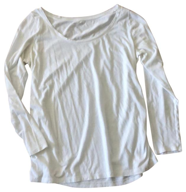 Item - White Soft Long Sleeve Maternity Top Size 12 (L)