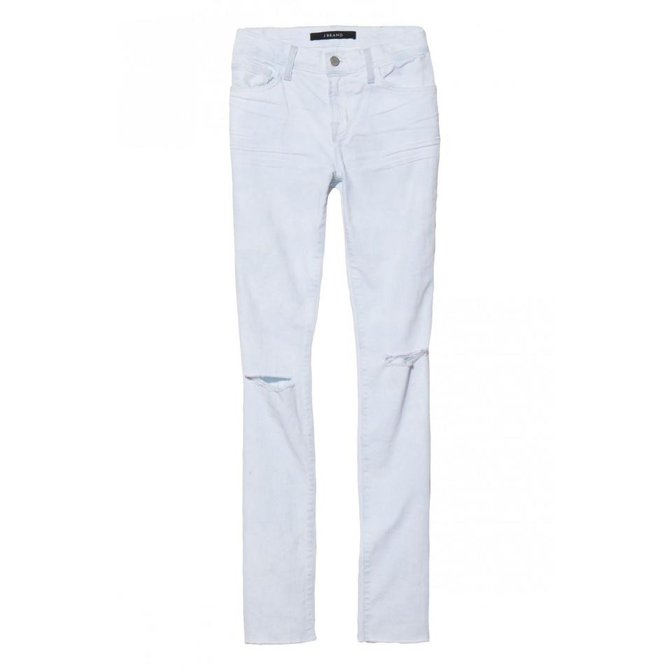 05eff103 J Brand White Acid Blue Runaway Midrise Rail Straightleg Relaxed Fit ...