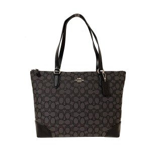 Coach Zip Top City City 191202764217 Tote in Black Smoke