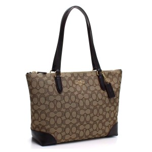 Coach Zip Top City City 191202716131 Tote in Khaki/Brown