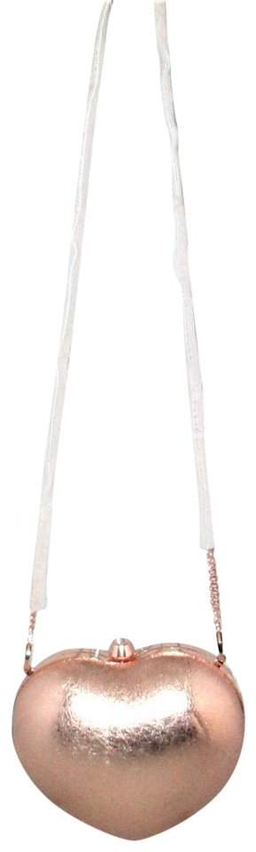 6afb691858bf Michael Kors Pearlized Small Heart Box Clutch Cross-body Soft Pink ...