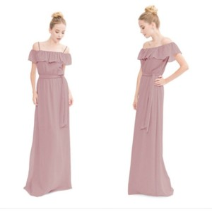 Joanna August Bohemian Rhapsody Chiffon The Nikki Long Feminine Bridesmaid/Mob Dress Size 12 (L)