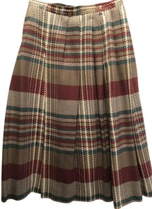 Jaeger Maxi Skirt Multi plaid fall colors