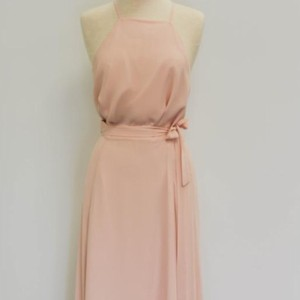 Joanna August Tiny Dancer (Light Blush) Chiffon Katie Top Casual Bridesmaid/Mob Dress Size 8 (M)
