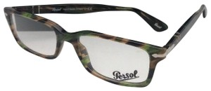 472b43bddd47 Persol New PERSOL Rx-able Eyeglasses 2965-V-M 974 55-18 Brown Green