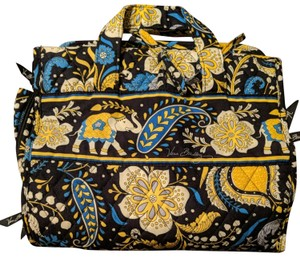 Vera Bradley Blue and yellow lucky elephant