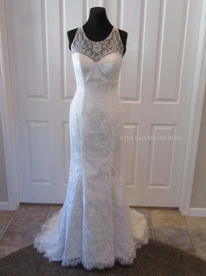 Casablanca Antique Goldivory Lace Bl246 Feminine Wedding Dress Size
