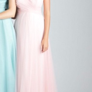 Allure Bridals Light Pink Style 1506 Feminine Bridesmaid/Mob Dress Size 8 (M)