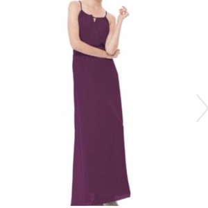 Joanna August Witchcraft (Plum) Chiffon Blair Casual Bridesmaid/Mob Dress Size 8 (M)