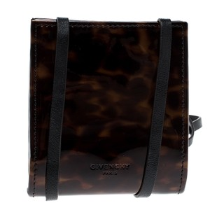 Givenchy Brown Leopard Print Patent Leather Coin Purse