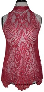 Love, Fire Lace Bohemian Top Red