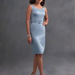Alfred Angelo Blue ( Once Upon A Time) Casual Bridesmaid/Mob Dress Size 16 (XL, Plus 0x)