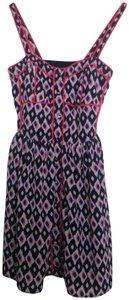 The Impeccable Pig short dress Pink, Navy, White Ikat Day on Tradesy