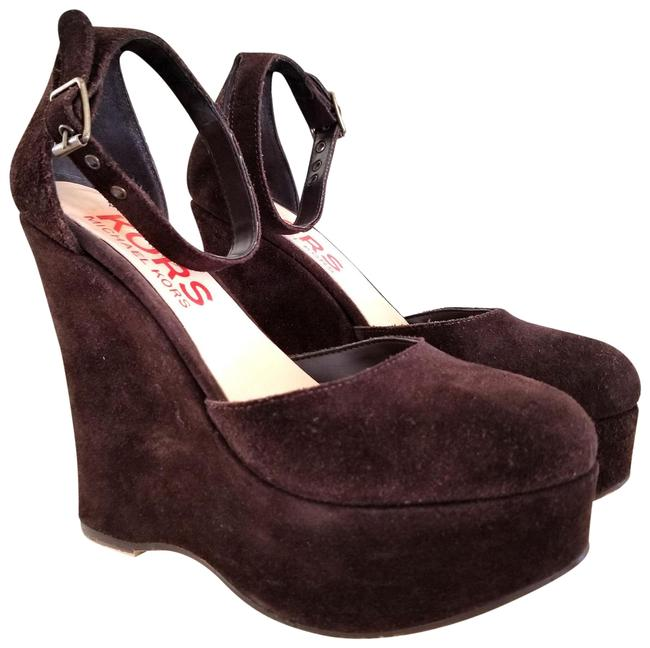 Item - Brown Suede Wedge Strappy Platforms Size US 5.5 Regular (M, B)